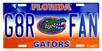FLORIDA GATORS G8R FAN EMBOSSED METAL NOVELTY LICENSE PLATE TAG