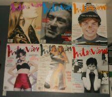 ANDY WARHOL INTERVIEW MAGAZINE LOT 1993 ROBERT DENIRO BARBRA STREISAND