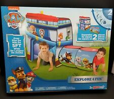 Paw Patrol Playhut Discovery Explore Hut Tent & Tunnel 4 Feet Long New in Box
