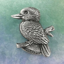Australian Kookaburra Souvenir Pewter Fridge Magnet Australiana Gift