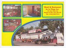 Motel Restaurant de la Plage BERTHIER SUR MER Montmagny Quebec Canada Postcard