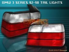 92-98 BMW 318 325 328 M3 4-DOOR COUPE TAIL LIGHTS REAR LAMP RED CLEAR