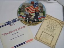Edwin Knowles The FOURTH of JULY 1st in American Holidays Bradford Echange PLATE