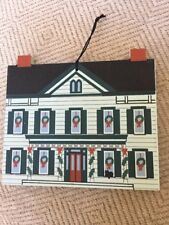 Cat's Meow 1996 Limited Ed Ornament, Parsonage, Christmas Wood Collectible