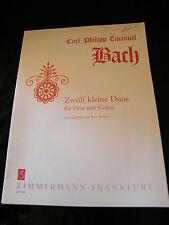 Partition Carl Philipp Emanuel Bach Zwolf Kleine Duos Kurt Walther Zimmermann