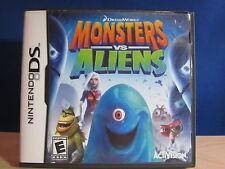 Nintendo DS Monsters VS Aliens Complete Video Game