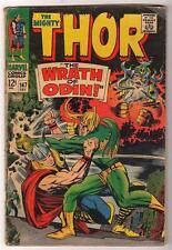 Marvel Comics  VG- 3.5  THOR  #147 1967 AVENGERS  MID GRADE LOKI Wrath odin