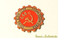 "VESPA IN METALLO-TARGHETTA ""VESPA CLUB USSR"" - Club URSS CCCP Russia RUSSIA emblema"
