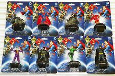 "8 NEW DC Comics 3"" Figurines Batman Flash Superman Green Lantern Joker Free Ship"