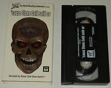 'CAUSE STONE COLD SAID SO ~ 1998 wwe WWF vhs in box; Stone Cold Steve Austin