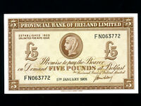 Northern Ireland:P-246,5 Pounds,1968 * Provincial Bank * UNC *