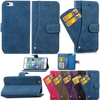 Card Holder Wallet Flip PU Leather Phone Case Cover Stand For iPhone 6 6s Plus