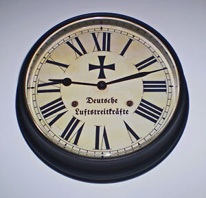 Deutsche Luftstreitkräfte WW1 German Flying Corps Replica Souvenir Wall Clock