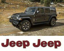 2pc Jeep Wrangler Gladiator Red Jeep Fender Door Emblem Badge Nameplate