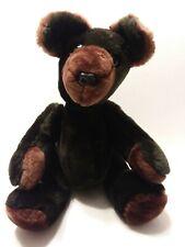 "Vintage? Teddy Bear 16"" Tall Jointed Teddy Bear  Black w/ Brown Paws"