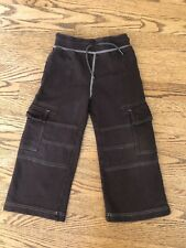 HANNA ANDERSSON BOYS Sz 110 US 5 Brown Cargo Pants