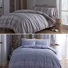 Blue or Beige STRIPE Duvet Cover Set by Designer Cottonsoft