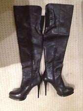 Stuart Weitzman Waydown Black Nappa Women's Boots M Medium 8.5 NWT Platform-Sexy