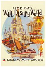 Walt Disney World - 1970's Airline Advertising Poster