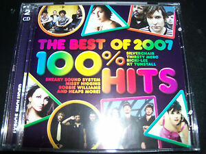 100% Hits The Best Of 2007 Various 2 CD Ft Garbage Silverchair The Cat Empire &