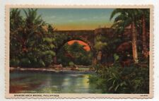 PHILIPPINES, SPANISH ARCH BRIDGE Sampaloc, Quezon Region Post Card Nice 1900's