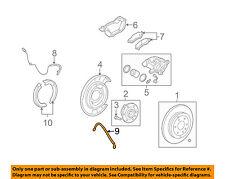 GM OEM Rear Brake-Hydraulic Flex Hose 25800751