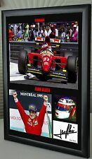 "Jean Alesi F1 Ferrari Framed Canvas Signed Print ""Great Gift"""