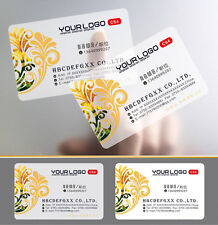 Customized 200x Frosted Transparent PVC Business name card Full Color printing