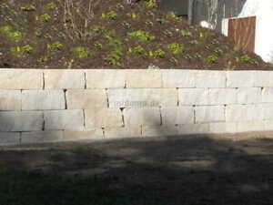 Hochbeet Naturstein Mauersteine 2-fach gesägt, Sandstein Gartenmauer Sichtschutz