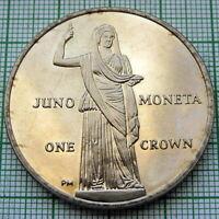 ISLE OF MAN 2012 1 CROWN, JUNO MONETA - PROTECTRESS OF FUNDS, BU