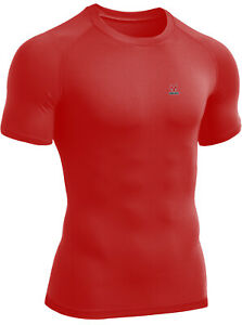 Men's Compression Top Short Sleeves Athletic Base Layer Gym Sports Running Shirt
