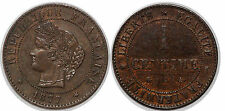 3 EME REPUBLIQUE 1 CENTIME CERES 1877  A