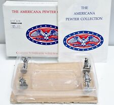 The Americana Pewter Collection Lot of 4 Solid Pewter Figurines Ah30 w/ Box