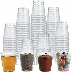 50 Pack Shot Glasses Dessert Cups Trifle Liquor Drink Clear Multi-Use