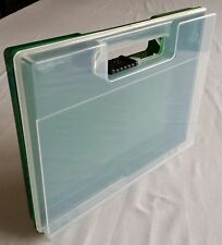 Plastic display Box, Case, Storage, with hinge. 23cm x 17cm x 3cm deep.