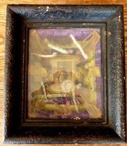Superbe RARE ancien cadre reliquaire XIXème Saint paperolle cachet cire 1