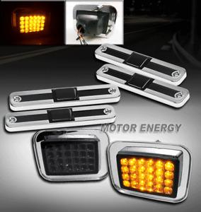03-09 HUMMER H2 LED CORNER LIGHT+SIDE MARKER COVER SMOKE SIGNAL PARKING SUV SUT