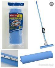 "Vileda Roll-O-Matic Roller Mop Refill 10"" - 1 Replacement Blue Mop Head ~NEW!"