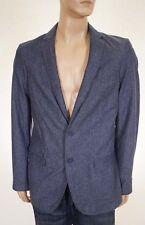 DKNY Jeans Men's Black Iris Linen Two Button Blazer Suit Jacket Medium