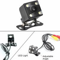 Car Rear View Backup Camera 4 LEDs Reverse Parking Safety Assitance Waterproof