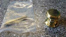 1 x Möbelknopf Durchmesser Ø 16 mm, Messing, poliert