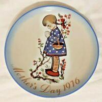 Vintage Schmid 1976 Mother's Day Collectors Plate Devotion for Mother Hummel