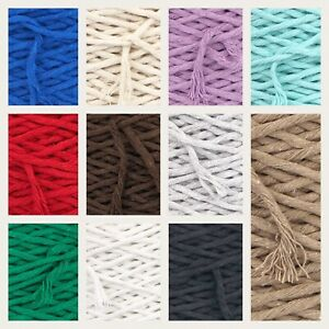 4-5mm SingleTwisted Pipping Cotton Cord  String Rope Craft Sewing Macrame DIY