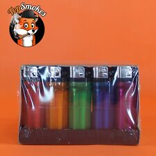 50 Classic Full Size Lighter Bulk Wholesale 1 Box Disposable Lighters Colors