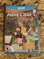 Minecraft: Wii U Edition (Nintendo Wii U, 2016) ***FACTORY SEALED***