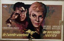 La SECONDE VERITE The SECOND TWIN Belgian movie poster MICHELE MERCIER RAY Art