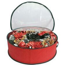 Christmas Wreath Decoration Storage Container Bag Xmas Props Small 45cm X 15cm