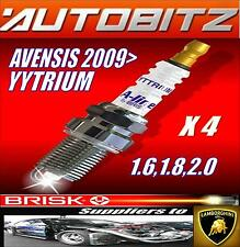 FOR TOYOTA AVENSIS 1.6 1.8 2.0 2009>  BRISK SPARK PLUGS X4 YYTRIUM FAST DISPATCH