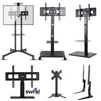 """Pro Floor TV Stand Swivel Mount Tabletop TV Base Holder fr 32-65"""" Samsung LG TCL"""
