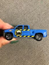 Matchbox 1999 Chevy Silverado Truck, BUILD, Blue, 1/64